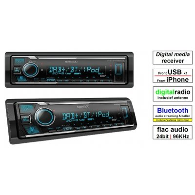 KENWOOD KMM-BT505DAB Bluetooth, dab+ autoradio